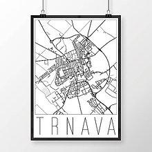 Grafika - TRNAVA, moderná, biela - 7765264_
