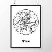 Grafika - TRNAVA, okrúhla, biela - 7765289_