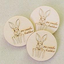 Odznaky/Brošne - pre srandu králikov - brošňa 4cm - 7763789_