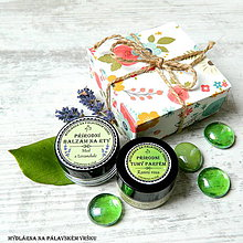 Drogéria - Dárková krabička - Tuhý parfém & balzám na rty - 7765665_