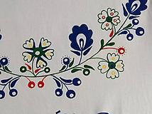 Folkové dámske maľované tričko (pestrofarebné prevedenie)