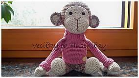 Detské doplnky - Opička Anička - 7764776_