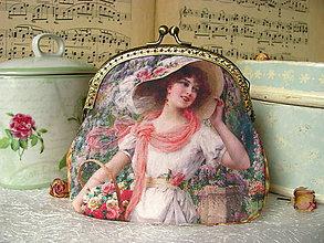 Kabelky - Kabelečka s dámou v klobouku - 7764556_