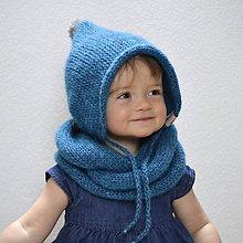 Detské čiapky - Čapkapuca...petrolejová - 7766974_