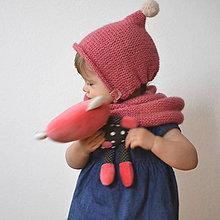 Detské doplnky - Mininákrčník..ružový - 7767040_