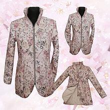 Kabáty - Kabát šípová ruža - 7765877_