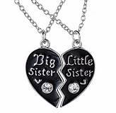 Sada pre sestričky s retiazkou srdiečko BIG SISTER & LITTLE SISTER
