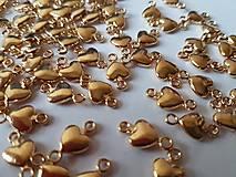 Prívesok - konektor srdiečko zlaté