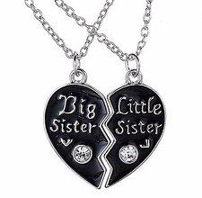 Komponenty - Sada pre sestričky s retiazkou srdiečko BIG SISTER & LITTLE SISTER - 7765424_