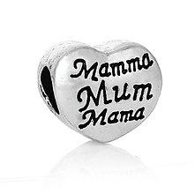 Korálky - Pandorková korálka MAMMA MUM MAMA - 7765484_