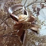 Darčeky pre svadobčanov - Stužky na fľaše - 7766988_