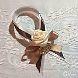 Darčeky pre svadobčanov - Stužky na fľaše - 7766989_