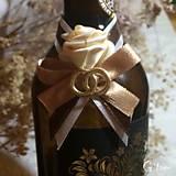 Darčeky pre svadobčanov - Stužky na fľaše - 7766990_
