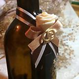 Darčeky pre svadobčanov - Stužky na fľaše - 7766993_