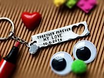 Kľúčenky - TOGETHER FOREVER MY LOVE - 7772057_