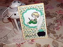 Papiernictvo - PC boy - pohľadnica k promóciám - 7767762_