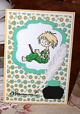 Papiernictvo - PC boy - pohľadnica k promóciám - 7767764_