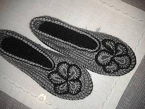Obuv - papuče-balerínky sivé - 7770705_