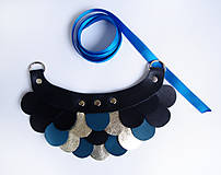 - Slzičkový kožený náhrdelník - 7772077_