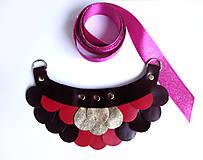 - Slzičkový kožený náhrdelník - 7772091_