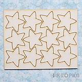 - Výrez Hviezda z oblohy - hviezdy veľké zaoblené, 12ks - 7771140_