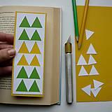 Papiernictvo - Žlto-zelené trojuholníky... - 7768978_