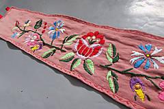 Opasky - Kvety - vyšívaný opasok - 7769953_