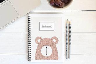 Papiernictvo - Denný plánovač - medveď - 7768778_