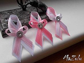 Pierka - svadobné pierka v ružovoBielom - 7772906_