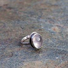Prstene - Strieborný prsteň - Rúžo - 7771578_