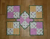 Úžitkový textil - Podšálky, podložky pod šálky, poháre - dva varianty - 7769916_