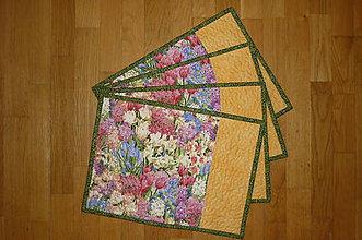 Úžitkový textil - Prestieranie s kvietkami - 7768825_