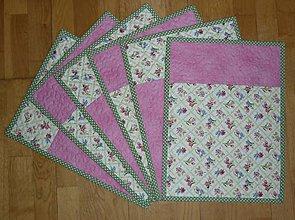 Úžitkový textil - Prestieranie s kvietkami - dva varianty (ružové) - 7769418_