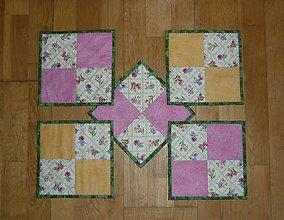 Úžitkový textil - Podšálky, podložky pod šálky, poháre - dva varianty (kusy) - 7769916_