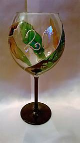 Nádoby - Maľovaný pohár na 20-tku - 7771693_