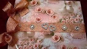 Papiernictvo - Svadobná kniha hostí Romance - 7772198_