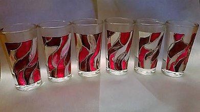 Nádoby - Maľované poháriky Violet - 7771603_