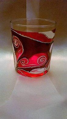 Svietidlá a sviečky - Maľovaný svietnik Violet - 7771751_