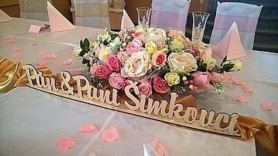 Dekorácie - Svadobná ikebana na hlavný stôl na objednávku - 7772675_