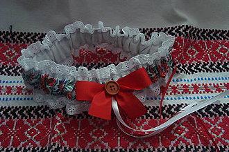 Bielizeň/Plavky - Ľudový svadobný podväzok - 7768306_