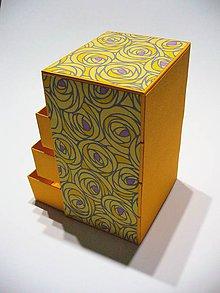Krabičky - komodka- šperkovnica - 7773080_