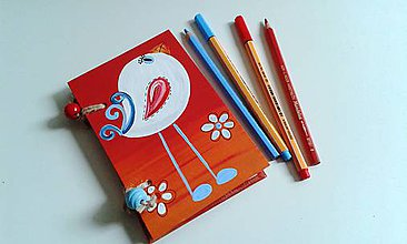 Papiernictvo - vtáčikový zápisník - 7772547_