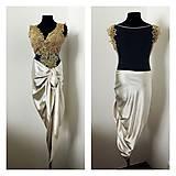 Šaty - Spoločenské šaty s asymetrickou sukňou  - 7771543_