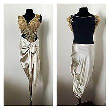 Šaty - Spoločenské šaty s asymetrickou sukňou - 7771543  f903cb186f4