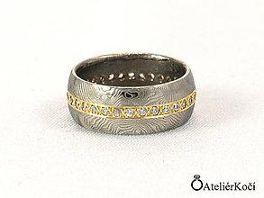 Prstene - Prsten Afrodíté s 32 diamanty a zlatem - 7771910_