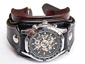 Náramky - Dámske antialergické steampunk hodinky - 7768347_
