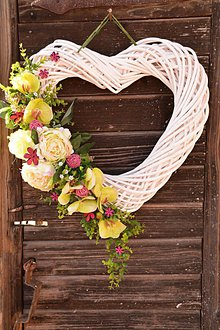 Dekorácie - Srdce s orchideou - 7768145_