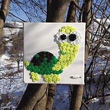 Obrázky - Gombíkový obraz - Korytnačka Karina - 7770281_