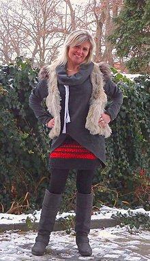 Sukne - pletená sukně 2 - 7770943_