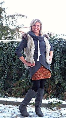 Sukne - pletená sukně 3 - 7770962_